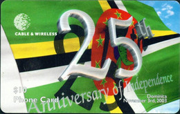 DOMINICA : DOMC13 25 Years Independence USED - Dominica