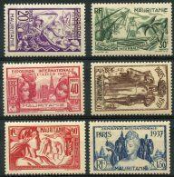 Mauritanie (1937) N 66 à 71 * (charniere) - Neufs