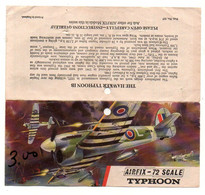 Instructions De Montage Airfix Construction Kit - 1/72 Scale The Hawker Typhoon IB - Format : 17.5x8.5 Cm - Non Classificati