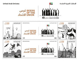 United Arab Emirates/ UAE 2020 - Seeds Of The Union MNH Sheetlet - Planes, Space, Astronaut, Oil, Camel, Buildings - Verenigde Arabische Emiraten