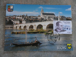 CARTE MAXIMUM CARD LE PONT SUR LA LOIRE ET LA CATHEDRALE ST LOUIS FRANCE - Bridges