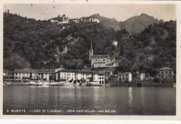SAN MAMETE-COMO-LAGO DI LUGANO-CASTELLO VALSOLDA- CARTOLINA VERA FOTOGRAFIA -VEDERE AFFRANCATURA-VIAGGIATA IL 22-8-1948 - Como