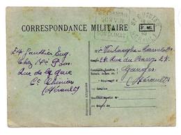 CARTE FRANCHISE MILITAIRE PRIVEE IMPRIMERIE ALBIGEOSE - GUERRE 39/45 -  => GANGES (HERAULT) + DAGUIN ST CHINIAN - FM-Karten (Militärpost)