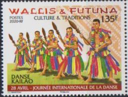 WALLIS ET FUTUNA, 2020, MNH,CULTURES, DANCES, INTERNATIONAL DAY OF DANCING,  1v - Dans