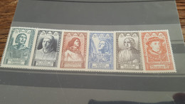 LOT522836 TIMBRE DE FRANCE NEUF** LUXE N°765  A 770 - Unused Stamps