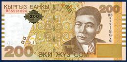 KYRGYZSTAN - KIRGUISTÁN 200 SOM P-22 Alykul Osmonov - Lake Issyk-Kul 2004 UNC - Kirghizistan