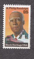 USA Scott # 2402     1989     Black Heritage - Randolph  25c  Mint NH  (MNH) - Nuevos