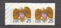 USA Scott # 2431     1989     Eagle And Shield (x2)  25c  Mint NH  (MNH) - Nuevos