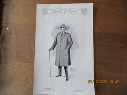 MARSEILLE MAISON G. GOODS AVENUE JULES CANTINI AOUT 1913 MODELE 29cm/19cm - Advertising
