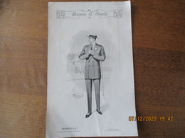MARSEILLE MAISON G. GOODS AVENUE JULES CANTINI AOUT 1913 MODELE MONTAGON LONDON 29cm/19cm - Advertising