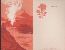 "MENU - CHAMPAGNE "" CHARLES HEIDSIECK""  Reims  -  JAVA  (13.5 X 21 Cm. ) - Menükarten"