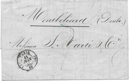 LAC 1843 / Sté MARTI Paris / à Samuel Marti  Montbéliard 25 / Ventes Tableaux Juin 43 - 1801-1848: Voorlopers XIX