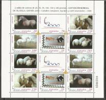 ESPAÑA CABALLOS CARTUJANOS SERIE COMPLETA  EDIFIL NUM. 3679/3684A ** MINI PLIEGO NUM. 67 - 1991-00 Unused Stamps