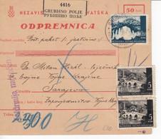 Croatia WWII NDH 1943  Parcel Card, Mixed Franking - Croatia