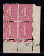 Coin Daté - YV 202 N** Luxe Semeuse Du 23.7.31 - ....-1929