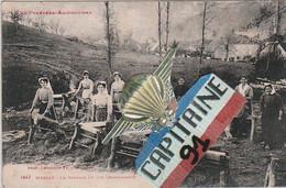 CPA MASSAT ARIEGE LE BROYAGE DU LIN ( BARGASSADO ) - Altri Comuni