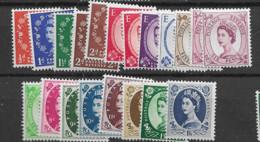1955 MNH GB, Wmk St Edward Crown Mi 282-98postfris** - Unused Stamps