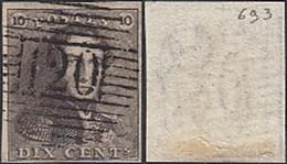 """Belgique 1849 - TImbre Oblitéré . Bel BE Nr. 1- P120. Non Perforé - King Leopold I Type """"Epauletten... (DD) DC-9636 - 1849 Mostrine"""