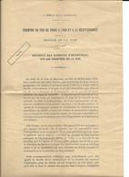 1911 PARIS - SERVICE DE LA VOIE - SECURITE DES OUVRIERS SUR LES CHANTIERS ET EXTRAIT MINUTES DU GREFFE - PLM - Eisenbahnverkehr