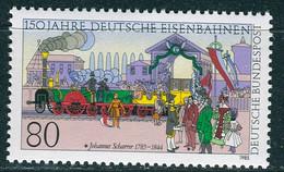 BRD - Mi 1264 - ** Postfrisch (B) - 80Pf 150 Jahre Deutsche Eisenbahn - Unused Stamps