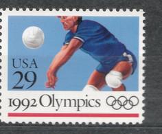 USA Scott # 2639    1992  Volleyball   29c    Mint NH  (MNH) - Neufs