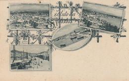 SPALATO-HRVATSKA-CROAZIA-UN SALUTO-GRUSS AUS-4 VEDUTE-CARTOLINA NON VIAGGIATA -ANNO 1898-1904 - Croatia