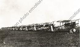 PHOTO AVION RETIRAGE REPRINT   Alignement De Royal Aircraft Factory R.E.7 RFC E 6032 F71 - Aviación