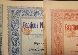 2x Fabrique Nat. De Bouteilles 1898 ! Merxem-Lez-Anvers - Sin Clasificación