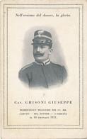Carte à La Gloire Du Maresciallo Maggiore Cav. GHISONI Giuseppe Caduto Per Dovere A Sarzana Il 30/01/1921 - Guerra, Militari