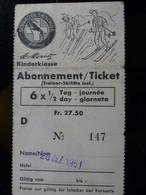 TICKET ABONNEMENT SKI _ ST MORITZ _ SUISSE _ 1961 - Ohne Zuordnung