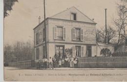 Montgeroult-par Boissy-L'Aillerie  95   Hotel De La Gare -Aux Amis De La Vallée-Entée Tres Tres Animée - Andere Gemeenten