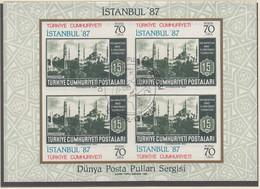 TÜRKEI  Block 24, Gestempelt, Internationale Briefmarkenausstellung ISTANBUL '87, 1985 - Hojas Bloque