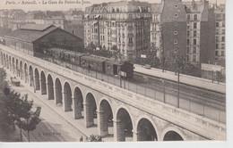 CPA Paris - Auteuil - La Gare Du Point Du Jour (avec Train En Joli Plan) - Metro, Stations