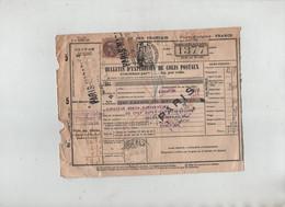 Bulletin Expédition Colis Postaux Mbega Cameroun Chef Supérieur Samaritaine Paris 1926 - Zonder Classificatie