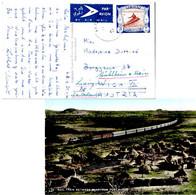 3P Ambatch Canoe 1962 Khartoum Postcard (Mail Train Between Khartoum And Port-Sudan) Airmail To Vienna, Austria Fo... - Poststempel