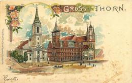 Gruss Aut Thorn Altstädteval Kirche - Polen