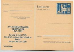 DDR P80-1b-78 C8-a Postkarte PRIVATER ZUDRUCK Olympischer Tag Berlin 1978 - Postales Privados - Nuevos