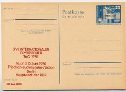 DDR P80-1d-78 C8-b Postkarte PRIVATER ZUDRUCK Olympischer Tag Berlin 1978 - Postales Privados - Nuevos