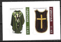 Féroé 2019 N°962/963 Adhésifs Neufs Chasubles - Isole Faroer