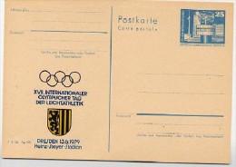 DDR P80-8-79 C16 Postkarte PRIVATER ZUDRUCK Olympischer Tag Dresden 1979 - Postales Privados - Nuevos