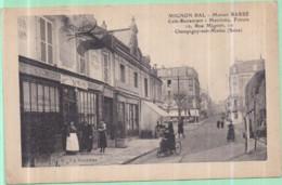 Dépt 94 - CHAMPIGNY-SUR-MARNE (10 Rue Mignon) - MIGNON BAL, Maison BARBÉ, Café-Restaurant - Matelotte, Friture - Champigny Sur Marne