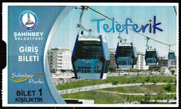Turkey, Türkei - Gaziantep Cable Car, Rope Railway * Entrance Ticket * - Tickets - Entradas
