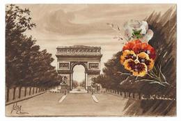 CPA 75 PARIS 8e Paris En Fleurs Avenue Champs Elysées Arc De Triomphe De L'Etoile C. KLEIN Catharina N° 504 Ed. LMKA - Klein, Catharina