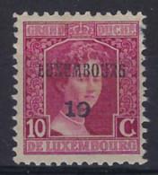 LUXEMBOURG PREO 1919 - 10 Cts Marie - Adélaîde , état Voir Scan !   LOT 236 - Precancels