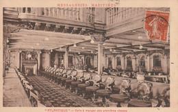 (SV2) Messageries Maritimes ATLANTIQUE , Salle à Manger Des Premières Classes - Passagiersschepen
