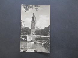 AK 1937 Finnland Turun Tuomiokirkko Abo Domkyrka Kirche Frankiert Mit Nr. 203 70. Geburtstag Carl Gustav Emil Mannerheim - Finlande