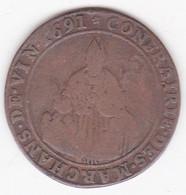 Jeton Confrérie Marchands Vin 1691 Paris - Royal / Of Nobility