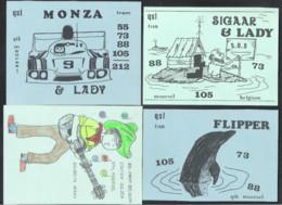 QSL Radio Card -  MOORSEL  - 4 KAARTEN (10.769) - Radio Amateur