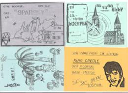 QSL Radio Card -  MOORSEL  - 4 KAARTEN (10.770) - Radio Amateur