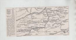 Carte Gorges De Moutier Courrendlin Tramelan Tavannes Reconvilier Bévilard Crémine Circa 1910 - Zonder Classificatie